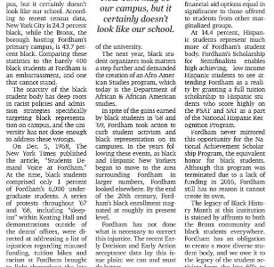 """Fordham Fails Black Students"""