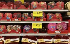 display of valentine's day chocolate on sale