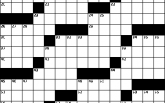 a blank crossword grid