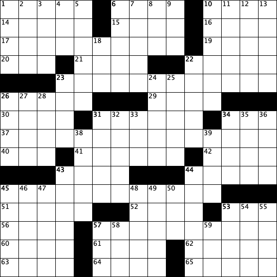 a blank crossword grid