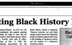 photo of newspaper with the headline celebrating black history month