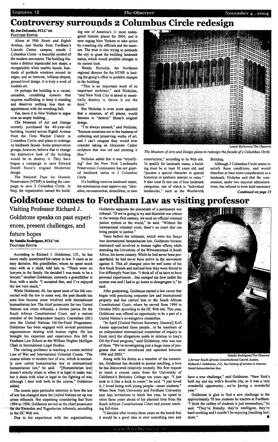 scanned image of a newspaper page where the bylines of joe delessio and natalie rodriquez both appear
