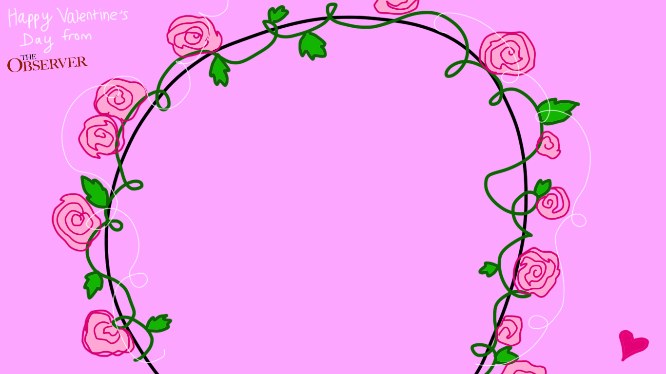 a flower arch on a purple background, , one of three valentines day zoom backgrounds
