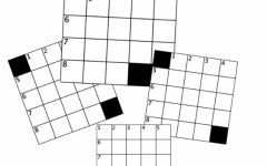 a set of small crossword grids