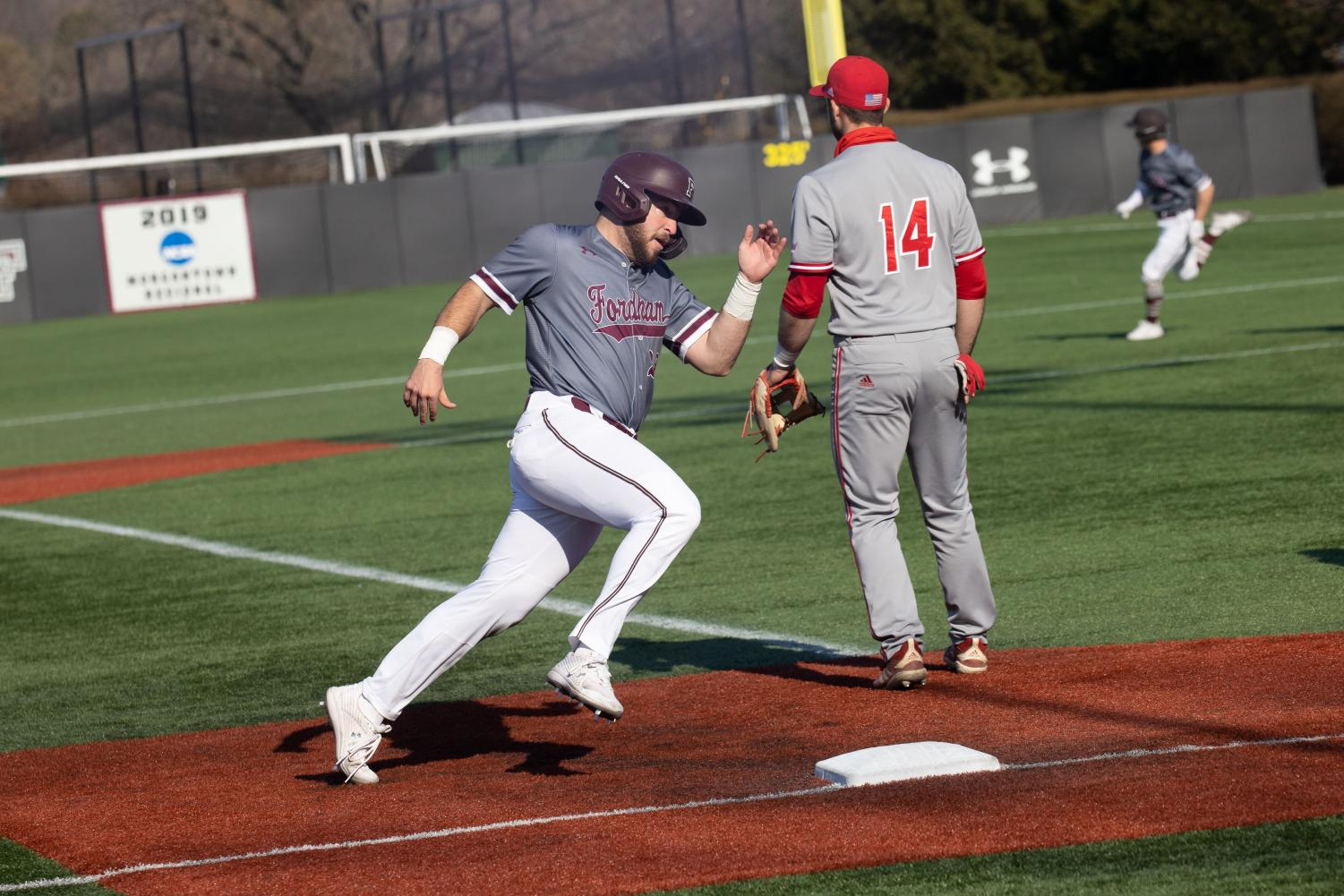 nick labella running in a game against sacred heart