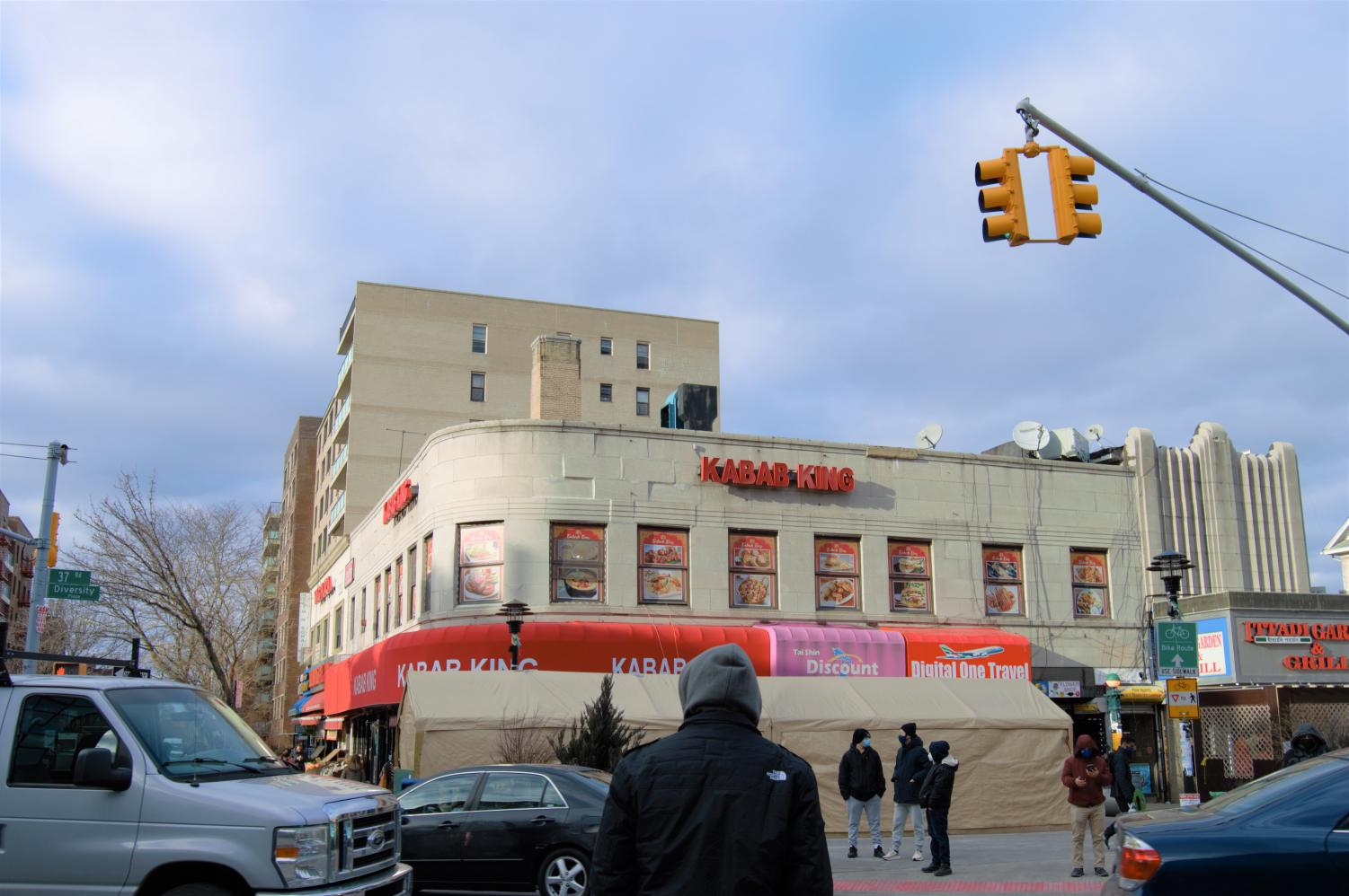 photo of building in diversity plaza in jackson heights