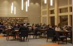 students studying in the library at Fordham Lincoln Center