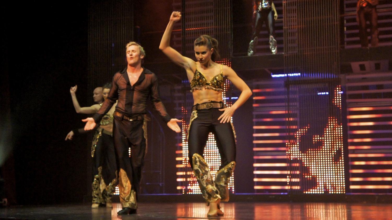 jennifer nau doing latin dance onstage