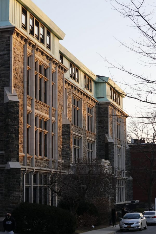 Finlay Hall, a dorm with quarantine rooms