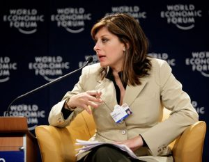 Maria Bartiromo on a speaker panel at the World Economic Forum