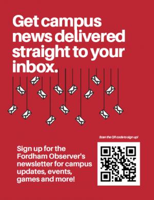 red newsletter flyer