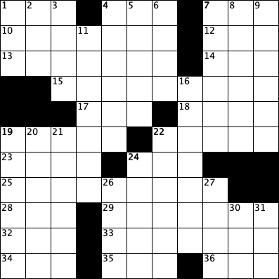 blank crossword grid 11 by 11 for alumni crossword