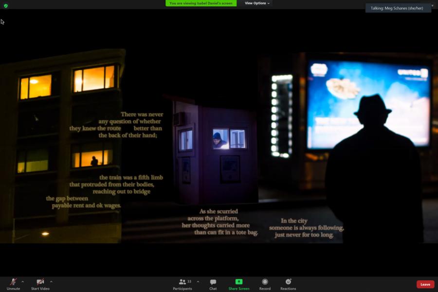 A screenshot of a work that mixes photos and text