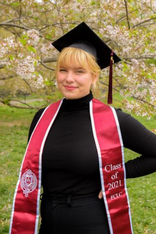 anna moneymaker poses in commencement celebration