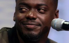 Daniel Kaluuya is shown at a media event for 'Judas and the Black Messiah'