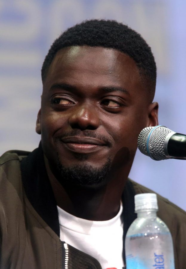 Daniel Kaluuya is shown at a media event for