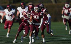 Fordham football team faces off against Colgatez University Raiders.