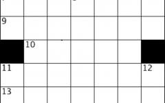 blank 7 by 7 crossword grid