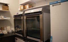 a vaccine fridge at Fordham