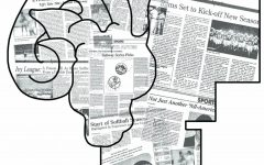 Observer sports newspaper pages stacked in an image of an