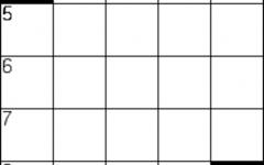 blank 5 by 5 crossword grid