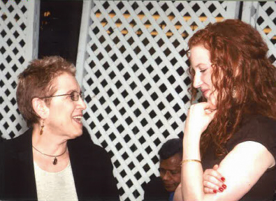 Elizabeth Stone pictured with one of her former advisees.