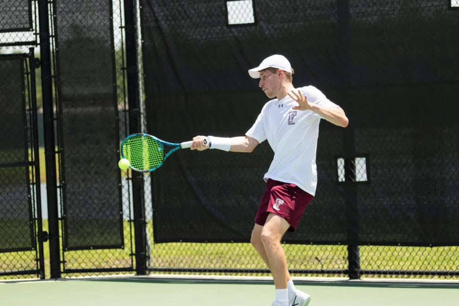 Max Green plays Richmond in tennis
