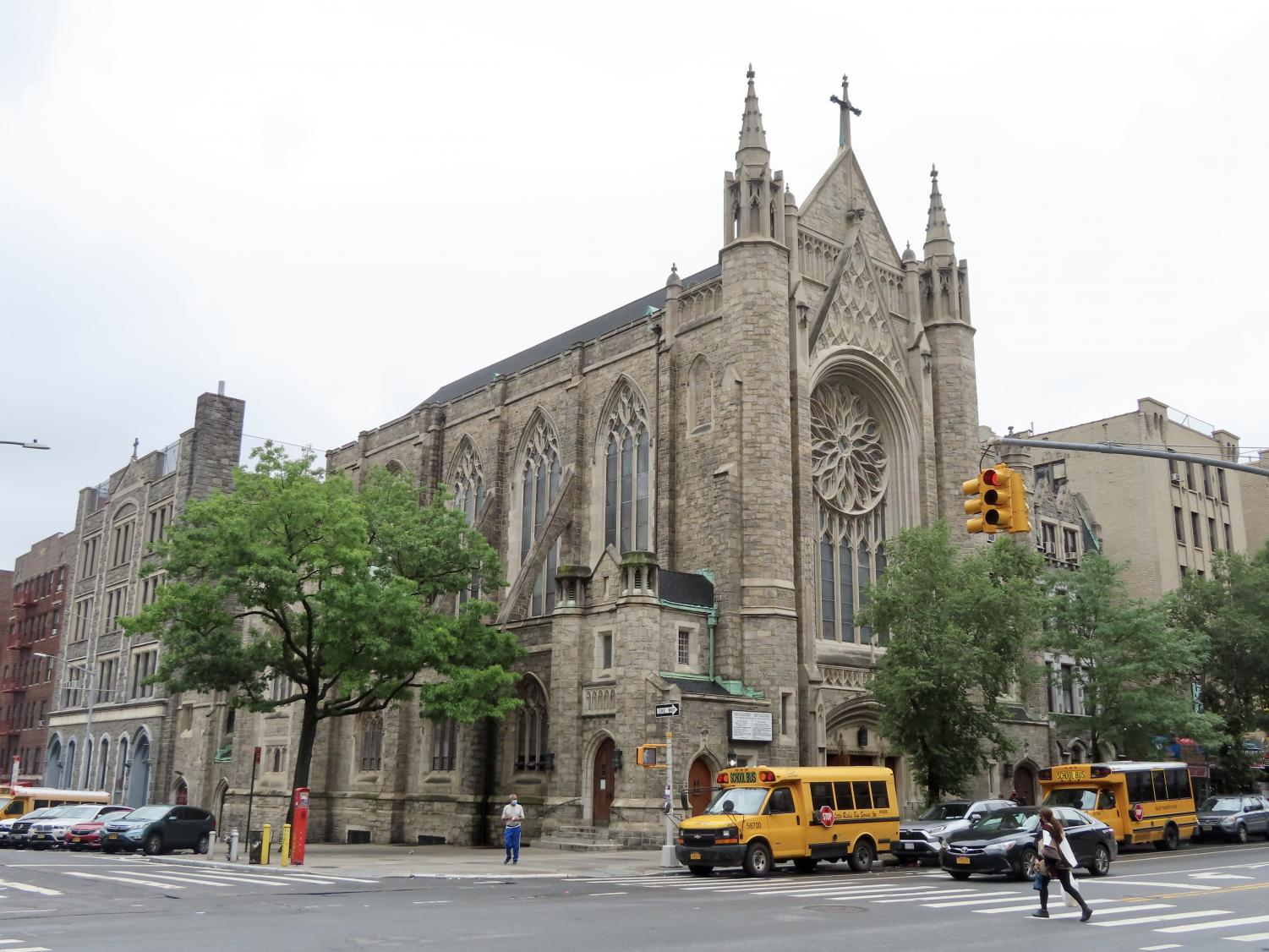 An image of a cathedral looking church in Washington Heights