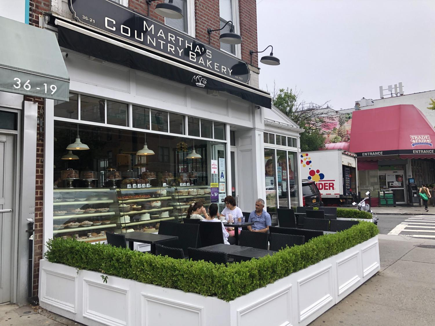 Martha's Country Bakery in Astoria with outdoor seating