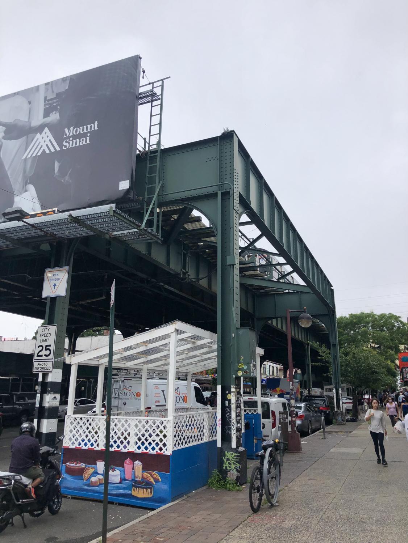 the N train's last stop at Astoria-Ditmars boulevard