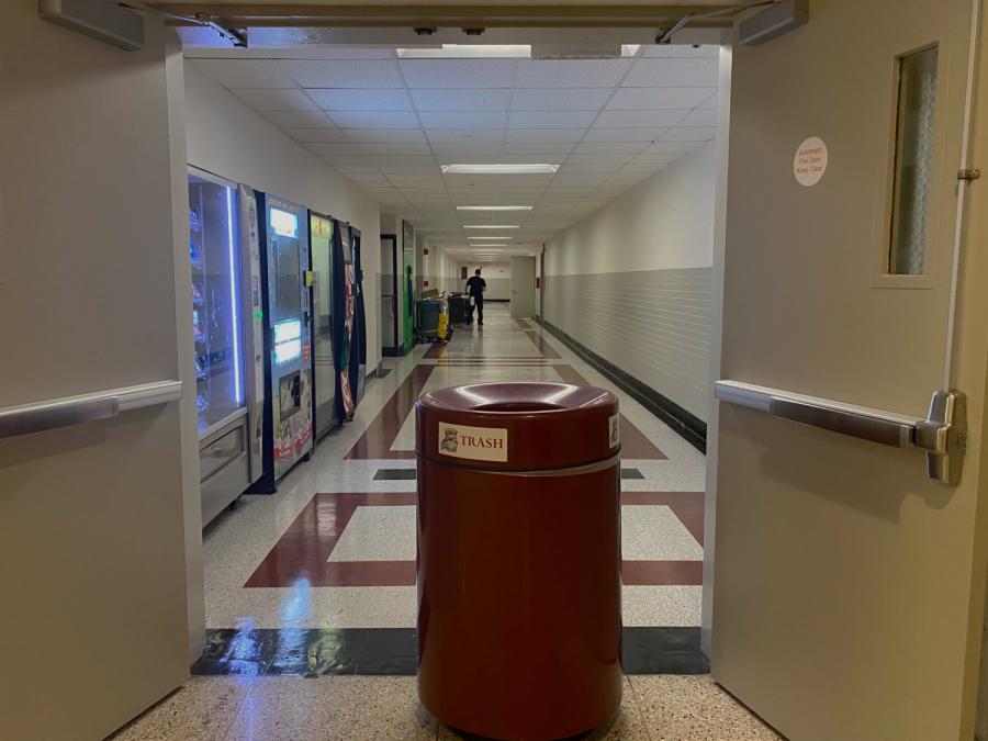 lowenstein hallway with flooding