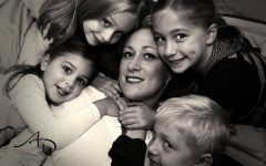 Jake Eraca and mother with cancer with his siblings