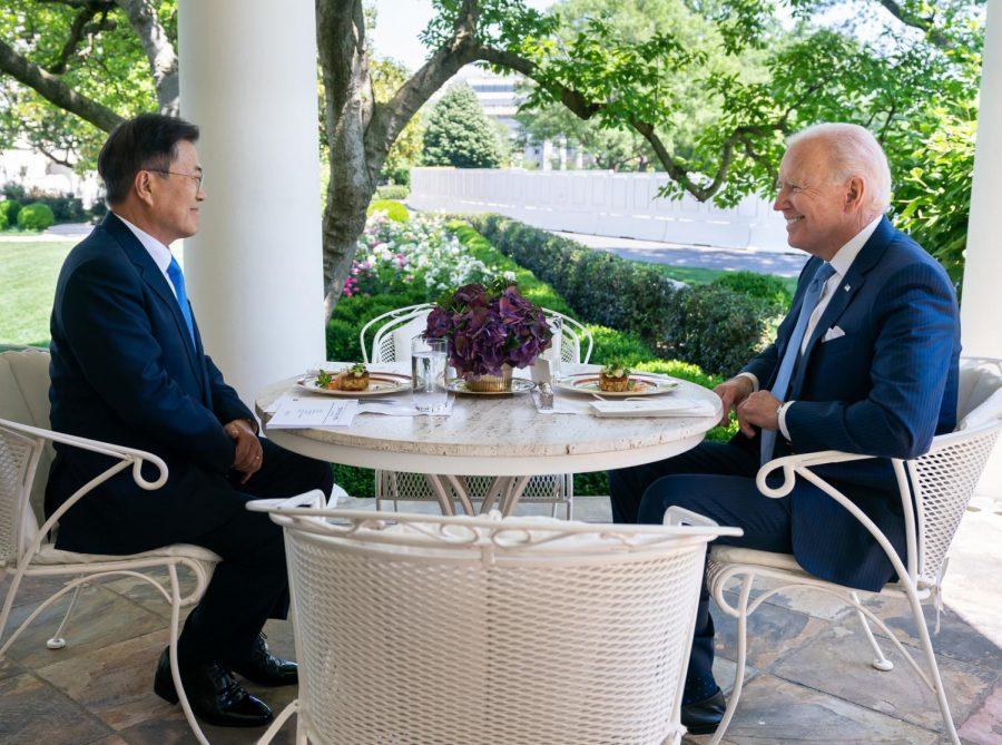 joe biden united states president meets with moon jae-in president of south korea