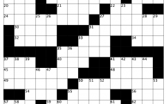 crossword Back to Class