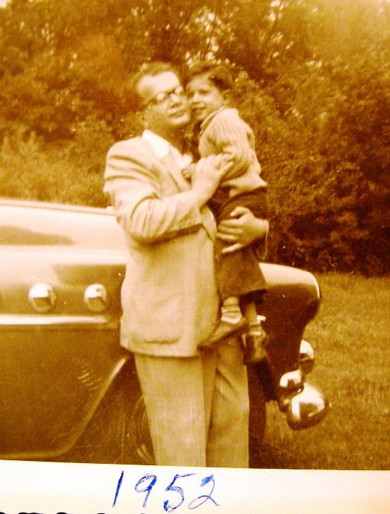 Dr. David Glenwick with his father Dr. Henry Glenwick in 1952