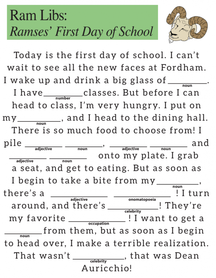 Ram Libs: Ramses' first day of school