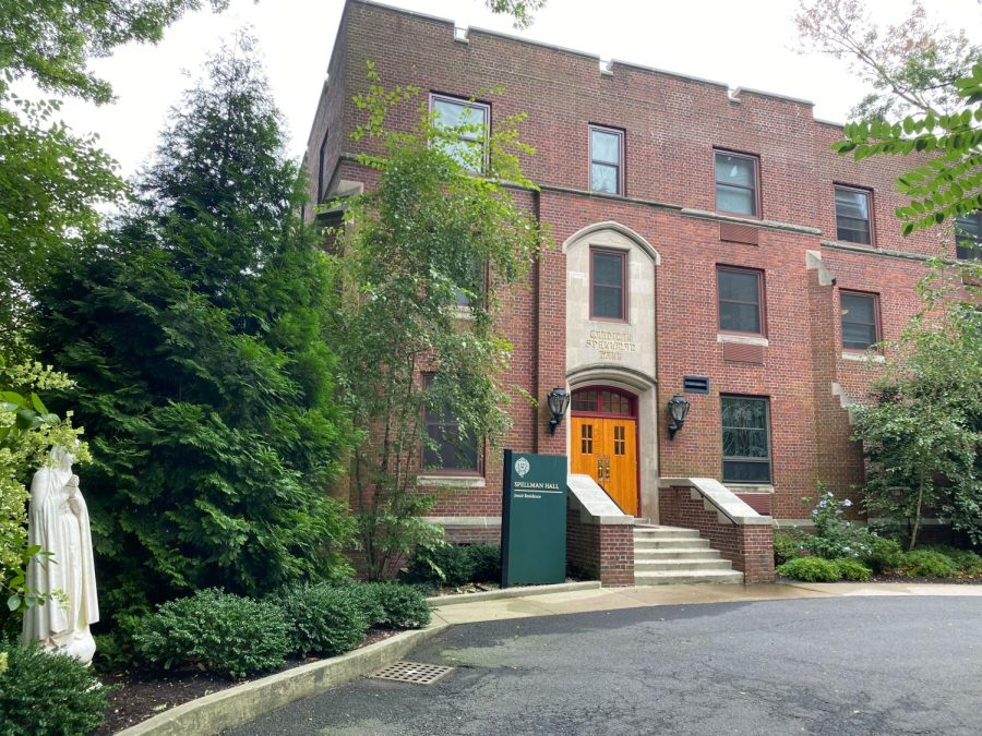 spellman hall, the residence of president mcshane and other jesuits