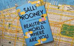 beautiful world where are you by sally rooney atop a map