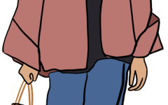 an illustration of Jade Huber in a hoodie and boots
